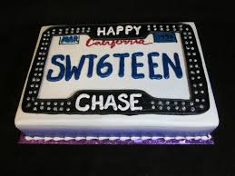 sweet 16 license plate cake birthday cakes pinterest sweet