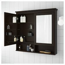Ikea Miroir Salle De Bains by Hemnes Armoire à Pharmacie 2 Portes Miroir Brun Noir 83x16x98