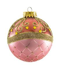 milady pink and plum glass unique ornaments treetopia
