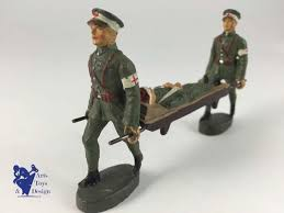 siege social swiss elastolin soldier swiss army stretcher bearers c1930