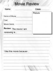 esl english powerpoints movie review worksheet