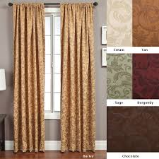 Extra Wide Thermal Curtains Softline Livingston Rod Pocket 120 Inch Curtain Panel 56 X 120 For