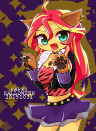 anime happy halloween eqg happy halloween from sunset by 00riko my little pony