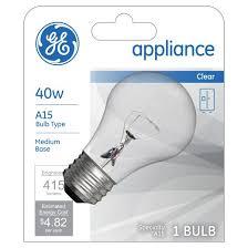 Specialty Light Bulbs Ge 40 Watt A15 Appliance Incandescent Light Bulb Soft White Target