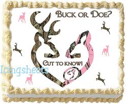 buck and doe cake topper camouflage baby shower cake topper boy girl buck doe cake