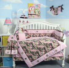 Infant Crib Bedding Soho Pink Camo Baby Crib Nursery Bedding Set 13 Pcs