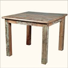 Large Wooden Kitchen Table by Rustic Distressed Reclaimed Wood Dining Table With Square Shape