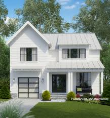 white wooden wall of exterior decoration in modular prefab home