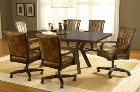 Poker Table Chairs With Casters by Dining Chairs Leather Dining Chairs With Casters Wholesale W