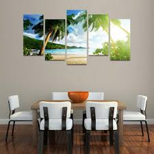 aliexpress com buy 5 panels canvas print thailand beach painting