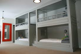 Bunk Bed Designs Bedroom Unusual Grey Custom Wooden Bunk Beds With Built In Beds
