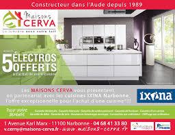 garantie cuisine ixina actualité constructeur maisons cerva partenariat avec les cuisines