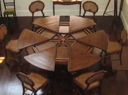 circle table with leaf interior endearing round dining set with leaf 16 mahogany pedestal