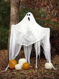 black trees for halloween halloween ghost decorations how to make a ghost hgtv