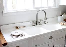 Farmhouse Kitchen Sink With Drainboard Home Designs Kitchen Sink With Drainboard With Antique Cast