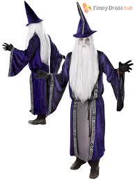 costume wizard robe mens magician robe u0026 hat wizard costume adults magic merlin