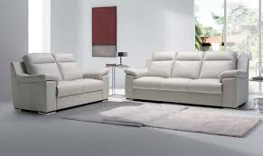 Best Italian Leather Sofa Furniture Double Sofa Sets With White Tone Combine The White Fur