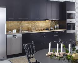 Kitchen Tiles Wall Designs by Cozy Splendid Kitchen Design With Gold Mosaic Tile Wall Backsplash