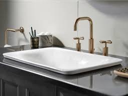 kohler carillon wading pool sink new kohler sartorial collection brings added elegance to bathroom