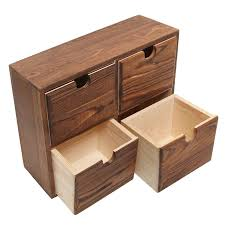 Desk Organizer Box Office Desk Organizer Drawer Box Holder Storage Wood Home Jewelry
