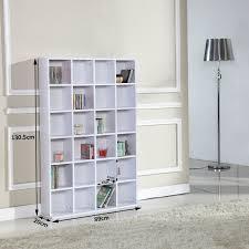 Media Storage Shelves by Homcom 480 Cd 312 Dvd Storage Shelf Rack Media Storage Unit