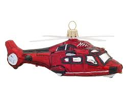 helicopter personalized ornament