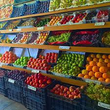 shopping time fresh fruits display colors healthy