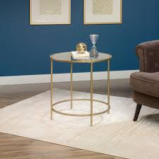 sauder coffee and end tables international lux round side table 417829 sauder
