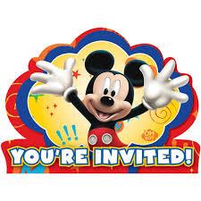 Mickey Mouse Invitation Cards Disney Mickey Fun And Friends Invitations Walmart Com