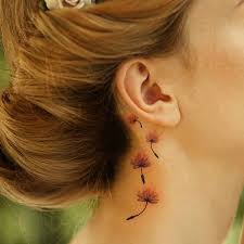 wolf tattoo behind ear view small dreamcatcher tattoo ear tattoos flowers photos pictures