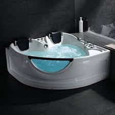 Bathtub Cushion Seat With Two Seats This Whirlpool Bath With Pillow Cushions Has