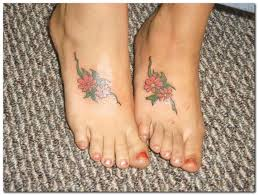 hawaiian flower tattoos on foot ksiqno
