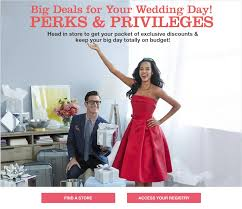 stores with bridal registries wedding registry perks coupons macy s