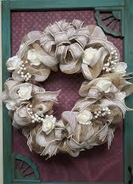 wedding wreaths burlap and lace wedding wreath ready to ship wedding wreaths