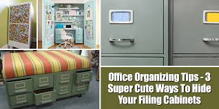 Cute Cabinet Office Organizing Tips 3 Super Cute Ways To Hide Your Filing