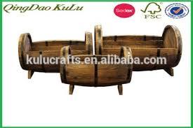 outdoor antique wooden barrel planter wooden half barrel planter