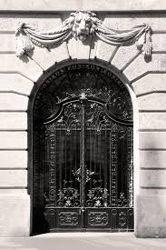 ornamental wrought iron doors with budapest relief by