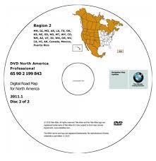 Navigation Map 2011 Bmw North American Map Dvd Professional Region 2 West Dvd
