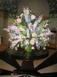 large scale hotel lobby floral arrangement california flower