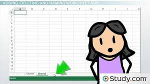 how to modify the worksheet tab in excel video u0026 lesson