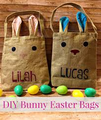 easter bags diy bunny easter bags custom simple to make and