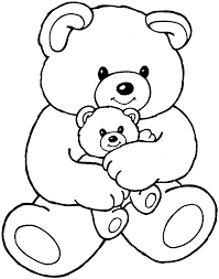 collections cute teddy bear coloring pages womanmate