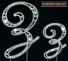 z cake toppers marquise cut monogram cake topper initial z