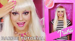 barbie makeup tutorial halloween barbie box costume trinaduhra