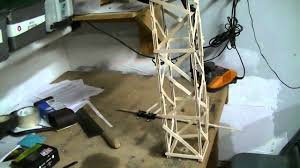 test 1 of a popsicle tower crane boom youtube