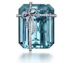 Tiffany And Co Gift Wrapping - a beautiful stone with a diamond gift wrap yes please