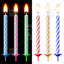 birthday cake candles colorful birthday cake candles royalty free vector clip image