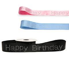 happy birthday ribbon diamante happy birthday ribbon sparkly bling cake decoration