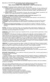 colombia libro de lectura grado 6 taller grado once segundo período cívica democracia y constitución