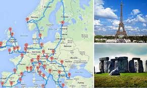 ultimate european road trip 16 000 and taking in 45 places